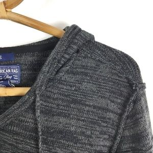 American Rag Sweaters - American Rag | Grey knit hooded sweater | Large